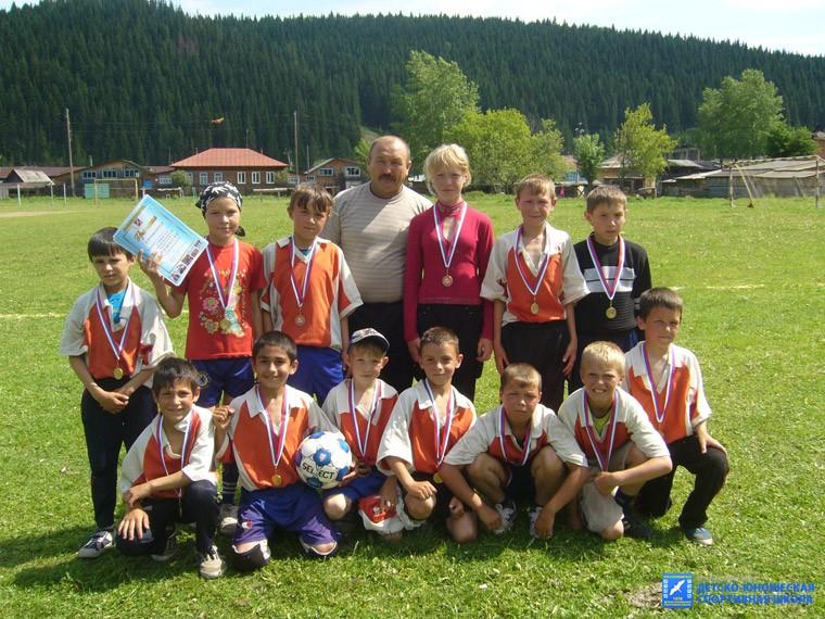 Младшая команда с. Юва, тренер-преподаватель Ю.Д. Тубаев