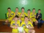 Младшая команда юношей с.Н.Село, победители первенства ДЮСШ по волейболу, тренер-преподаватель А.Н.Бобин