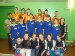Команды юношей и девушек с. Бугалыш, тренер-преподаватель Р.М.Габдрахманов